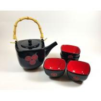 Juego té 6 piezas Sello rojo