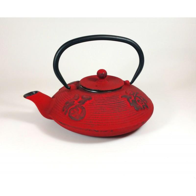 Tetera hierro fundido roja 08l tea4two - Tetera japonesa hierro fundido ...