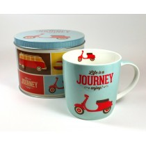 Lata con taza journey
