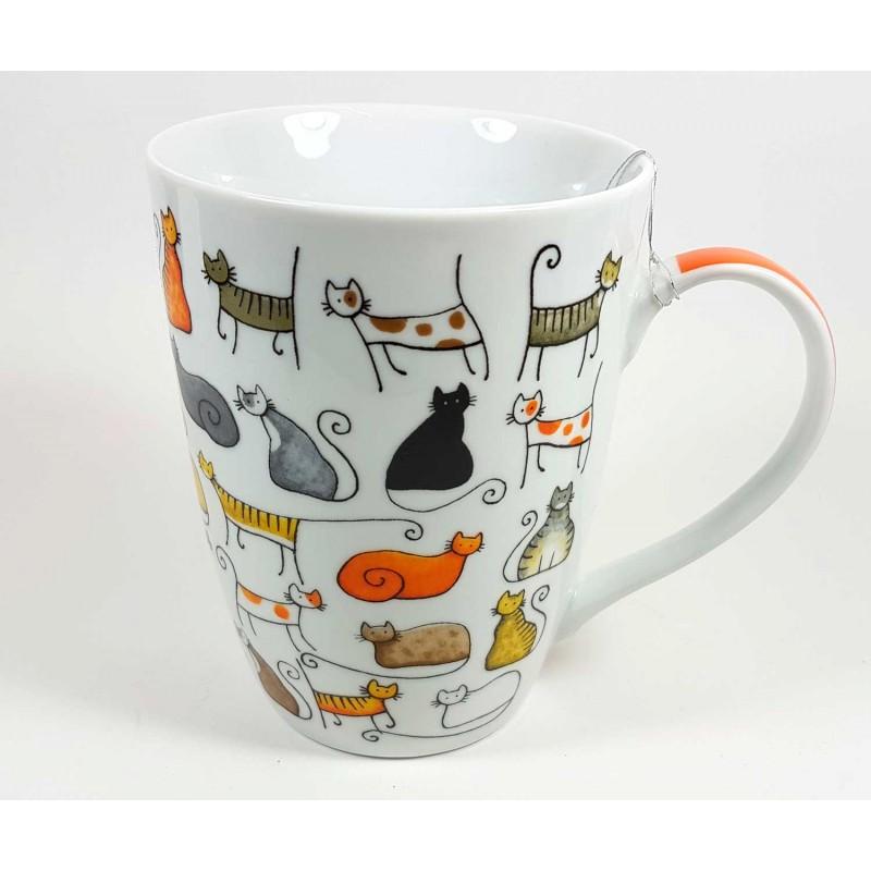 Taza de porcelana dise o gatos con sus multiples razas for Tazas grandes