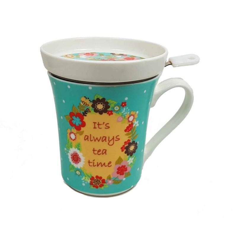 Taza 3pc flores daisy tea4two for Tazas para te