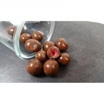 Frambuesas Bañadas en Chocolate con Leche