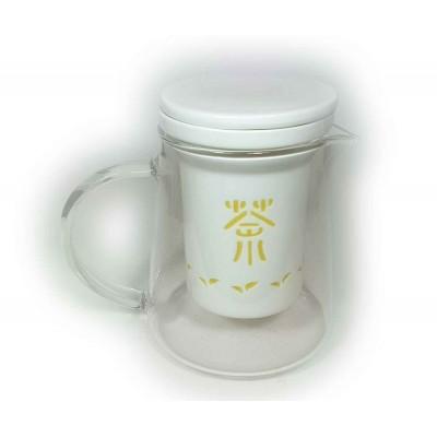 Tetera crisal y porcelana Japonesa