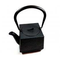 Tetera de Hierro Cuadrada Negra 0.8L