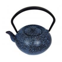 Tetera de hierro fundido azul y negra 500ml