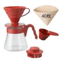 cafetera hario V60 KIT Rojo