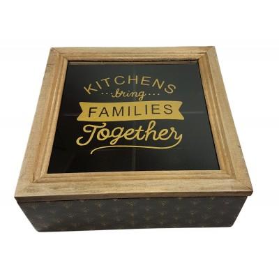 Caja madera 4 departamentos