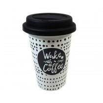 Mug Wake up con tapa de silicona