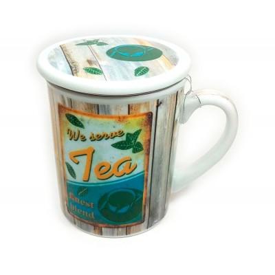 Taza 3pc We serve tea