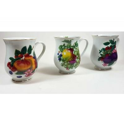 Tazas frutas vintage