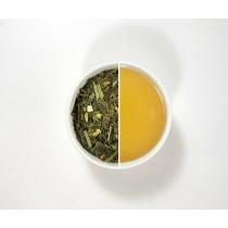 Té verde lima japonesa, es al nombre de nuestra mezcla citrica con piel de lima y citronela, una mezcla suave, ligera y refresca