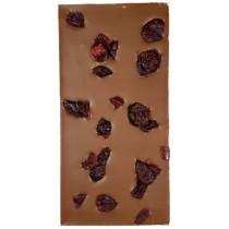 Chocolate con leche 36% con arandanos