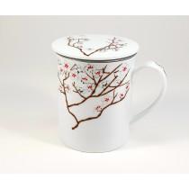 Taza porcelana cerezo blancp