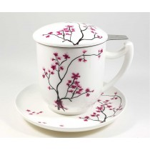 Taza con plato sakura