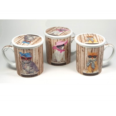 Taza 3pc Gatos
