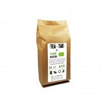 Té Verde Gourmet detox, es una mezcla de Té verde sencha, mate verde, trozos de piña, hojas de olivo, piel de limón y cola d