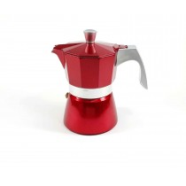 Cafetera roja 3 tazas