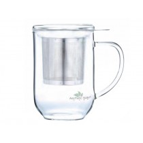 Tazas 3pc Cristal y filtro de acero
