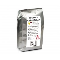 grano de café natural caracolillo