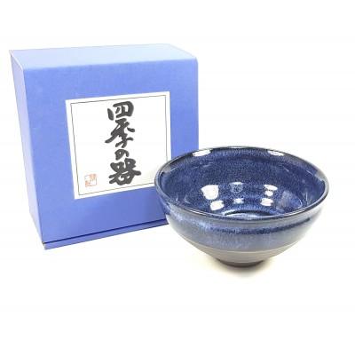 Chawan Japonés Azul vitrificado