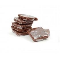 Cuadrados de caramelo y chocolate