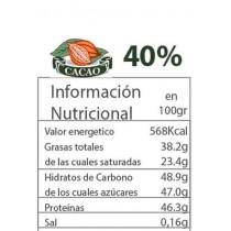 Chocolate 40% con perlas de colores