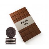 Chocolate con leche y galleta