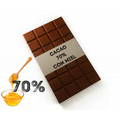 Chocolate negro 70% con Miel