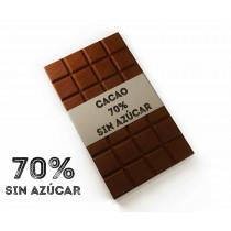 Chocolate negro 70% SIN azúcar