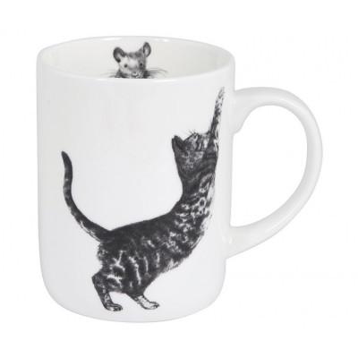 Taza gato arañando